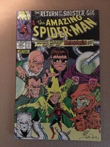 Amazing Spider-Man #337 Marvel Comic Book 1990 VF+ Condition Sinister Six - $3.59