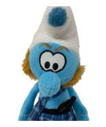 Kellytoy Plush Gutsy Smurf Blue Stuffed Animal Toy 2013 Scottish Kilt Peyo - $9.50
