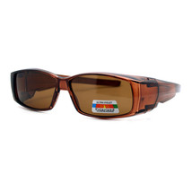 Polarized Lens Fit Over Glasses Sunglasses Light Plastic Rectangle Frame - $12.95