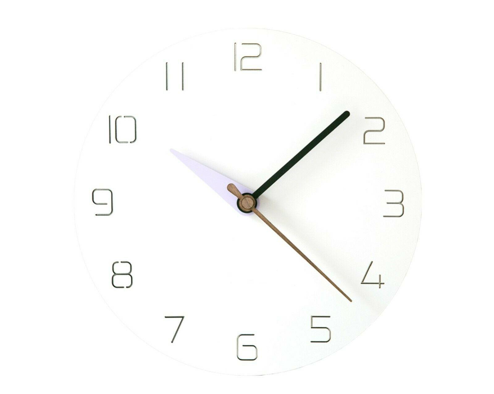 Moro Design 3 Color Hands Wall Clock non Ticking Silent Clock (Classic Purple)