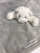 Blankets & Beyond Grey White Teddy Bear Security Blanket Lovey  - $19.29