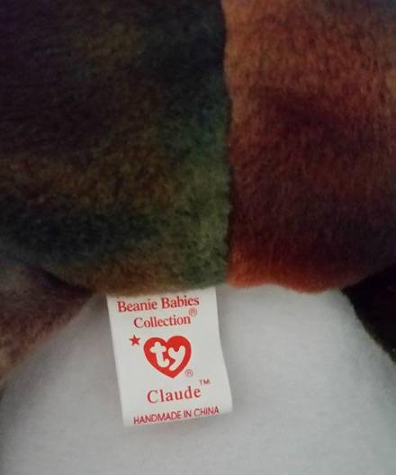 TY Beanie Babies Claude Crab Eye Sewn Wronge PVC PELLETS RARE ERRORS Retired image 6