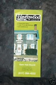Primary image for Haven Wood Motel  Brochure