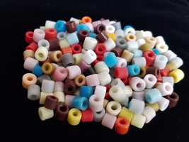 **Czech Glass MIXED COLORS 216+ Pony 6 mm BULK BEAD LOT Crow Jewelrymaking - $10.39