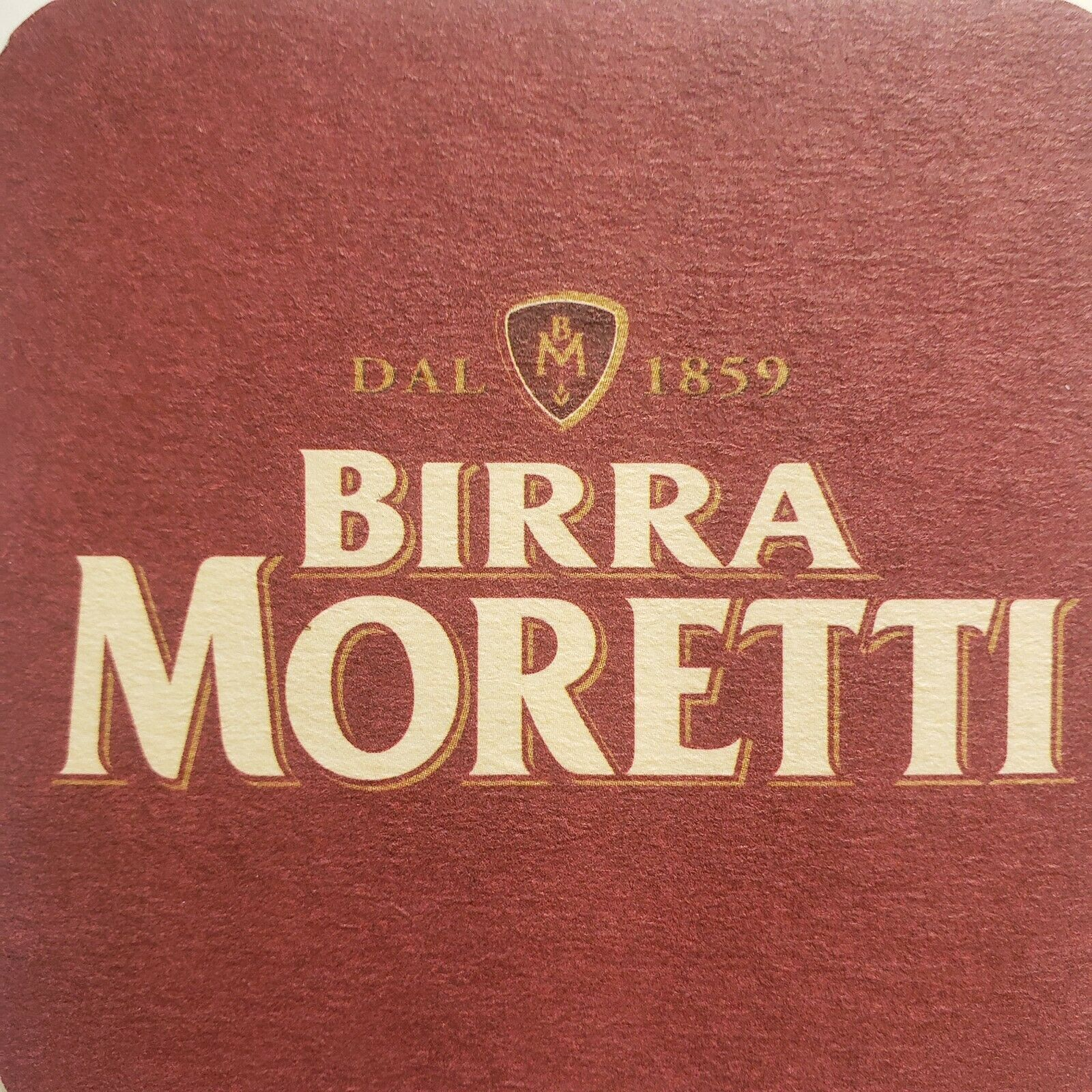 Primary image for Birra Moretti Beer Coasters 5 Italy Italia