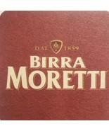 Birra Moretti Beer Coasters 5 Italy Italia  - $13.05