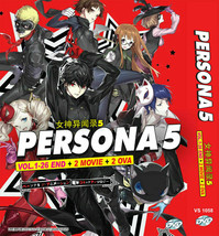 PERSONA 5 THE VOL.1-26 END + 2 MOVIE + 2 OVA ENGLISH DUBBED Ship From USA