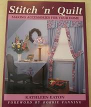 STITCH 'n' QUILT BOOK HOME ACCESSORIES WINDOWS BATH BED - $8.08