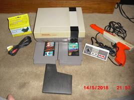 Nintendo NES System W 3 GAMES MARIO/DUCK HUNT, PINBALL AND GUN - $108.89