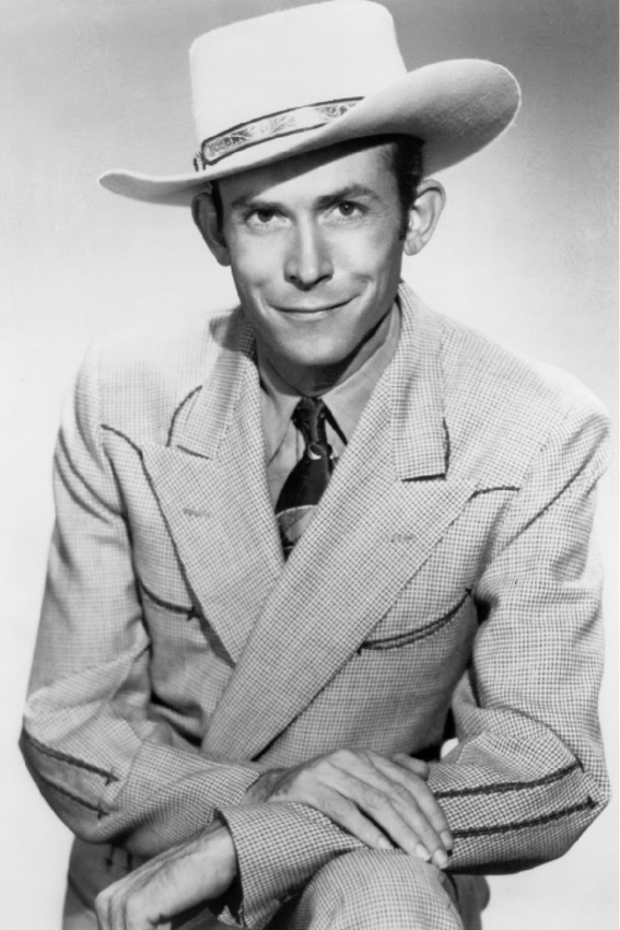 Primary image for Hank Williams Country Music legend smiling in stetson 18x24 Poster