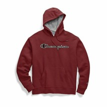 Champion Men's Powerblend Fleece Pullover Hoodie-Chainstitch Outline Log... - $37.99