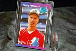 1989 DonRuss Rated Rookie Randy Johnson Pitcher  AA20-BTC3030 Baseball Trading C image 3