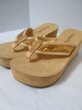 Women's Skechers Cali Shoe Size 9 Tan Nude Thong Flip Flops Slip-On Sand... - $13.86