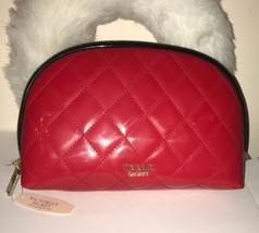 VICTORIA'S SECRET RED QUILTED  MAKEUP COSMETIC CASE TRAVEL LARGE NWT - $24.96