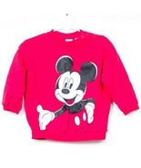 H&M Disney Mickey Mouse Sweatshirt 12-18 Months Red Front Back Button Neck - $17.68