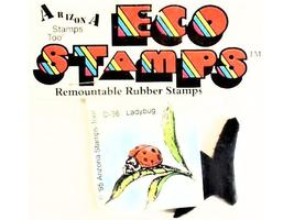 Eco Stamps Ladybug Unmounted Rubber Stamp #D-36