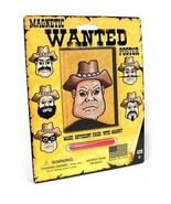 The Original Wooly Willy Western Wanted Poster Many Faces Magnetic Novel... - $6.86