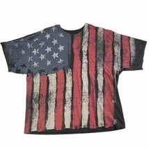 Dom American Flag Men's 3XL T Shirt Red Black 100% Cotton Patriotic Shor... - £16.13 GBP