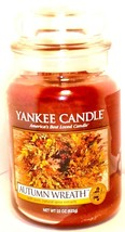 Yankee Candle AUTUMN WREATH 22 oz Candle UNUSED new old stock - $56.42