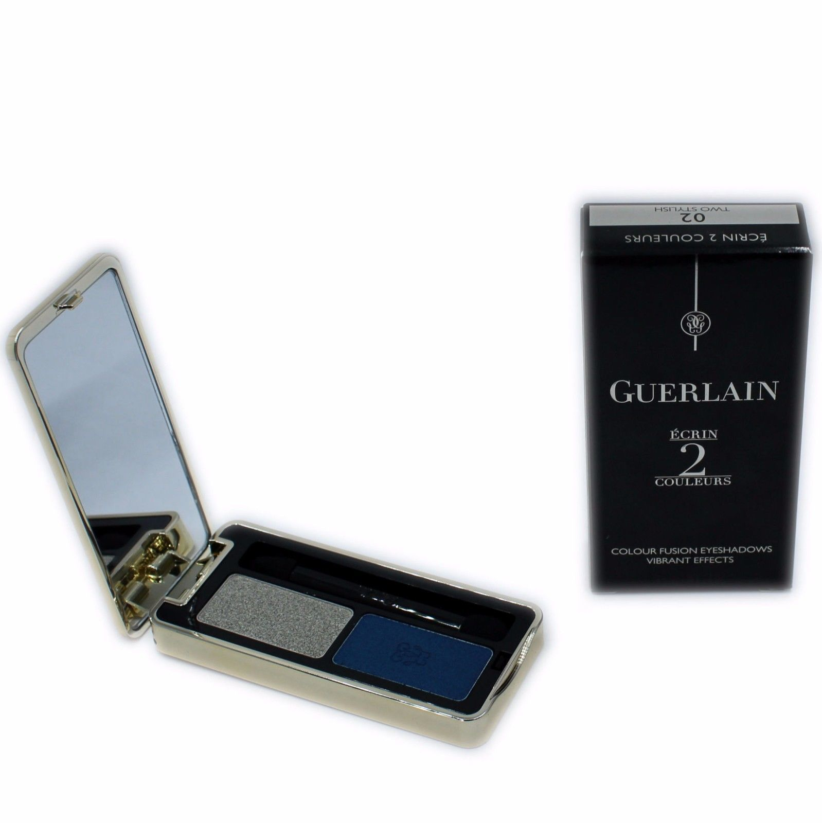 Primary image for GUERLAIN ECRIN 2 COULEURS COLOUR FUSION EYESHADOWS EFFETS VIBRANTS 4G #02-G41388