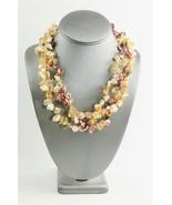 ESTATE Jewelry KESHI PEARL & QUARTZ GEMSTONE MULTI STRAND TORSADE NECKLACE - $55.00