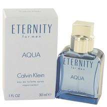 Eternity Aqua by Calvin Klein Eau De Toilette Spray 1 oz for Men - $45.00