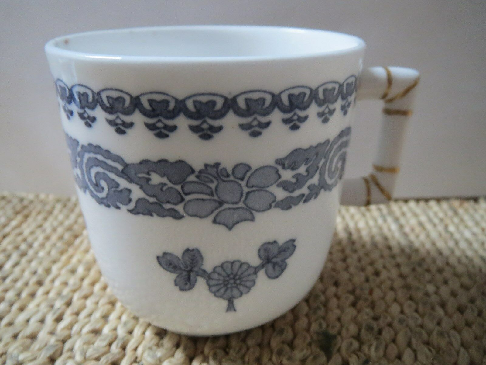 ROYAL WORCESTER-PAIR OF DEMITASSE CUPS/SAUCERS-Made for Abram French Co., Boston