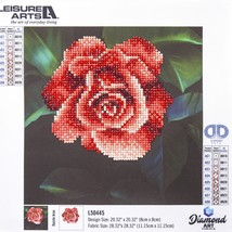 "Leisure Arts Diamond Art Beginner Kit 8""X8""-Red Rose - $15.25"