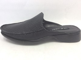 Nine West Women's Black Pebbled Leather Slides Mules R-Morrodo size 6.5M - €16,11 EUR