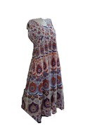 HAND BLOCK PRINTED ONE PIECES DRESS INDIAN HANDMADE INDIAN GOWNS TUNIC  - $17.39