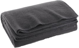 "Grey Warm Winter Wool Camping Blanket 62"" x 80"" - $24.99"