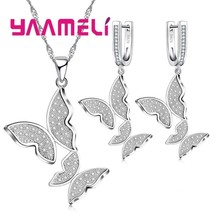 New Multiple Zircon Butterfly Necklaces Pendants Animal Fashion Jewelry ... - $11.19