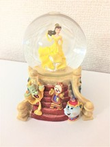 Disney Store Beauty and the Beast Princess Bell  Snow Glove Snow Dome Figure - $167.31