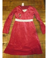 WDW Disney Minnie Mouse Red Velour Christmas Holiday Dress Size 7 Brand New - $29.99