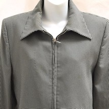 Victor Victoria Jacket 12 IT 46 Black Check Zip Up Made in Italy - $28.41