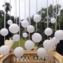 10pc White Round Paper Lantern Wedding Lamp Shade Grad Party Ceiling Dec... - $8.59
