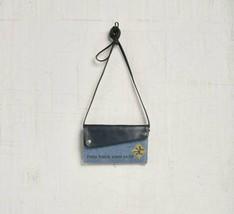 "Mona B Be You Small Crossbody Wallet Denim Blue/Gray Pocket on Back 8""W ... - $37.40"