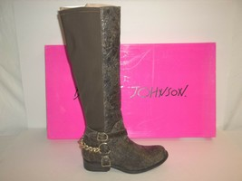 Betsey Johnson Size 6 M Barron Brown Distressed Leather Boots New Womens... - £52.51 GBP