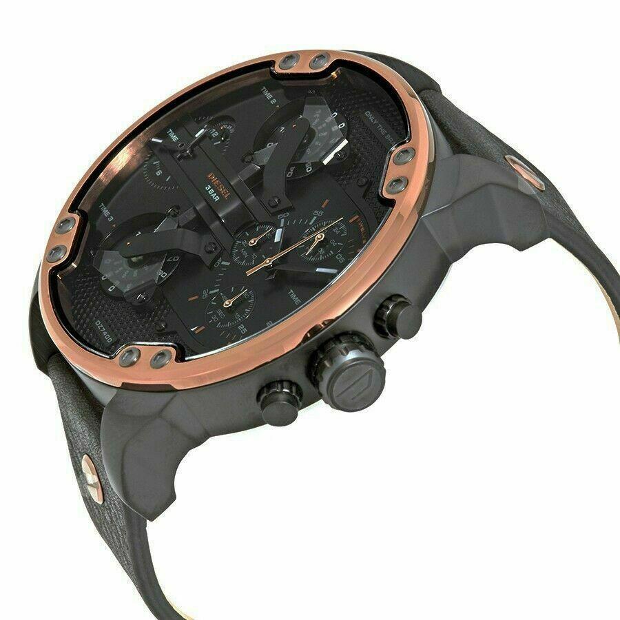 Diesel DZ7400 Mr. Daddy Copper & Black Leather Men's Watch