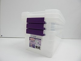 Sterilite 17511712 6-Quart ClearView Latch Box, with Plum Handles, 2-Pack - $23.96