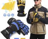 7.4V M/XL Winter Warm Rechargeable Electric Heated Gloves Women Men Waterproof W