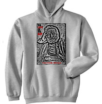 VICTOR HUGO TO LOVE QUOTE 1  -  NEW COTTON GREY HOODIE - $39.71
