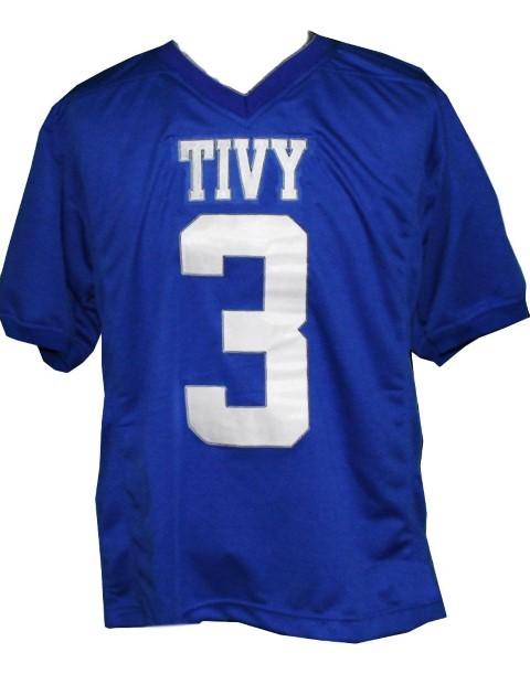 Johnny manziel  3 tivy high school new men football jersey blue 1