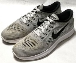 Nike Free RN Running Shoes Gray/White Athletic 831509-101 Size 9.5 Medium - $23.76