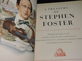 A Treasury of Stephen Foster Book 1946 50 Songs Music Americana Oh Susanna - $14.43