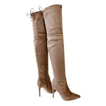 akira-91-taupe-over the knee boots - $31.99