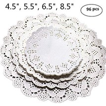 Winko 96 Count White Round Paper Lace Doilies for a Tea Party or Birthda... - $10.05