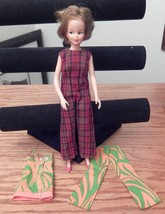 1965 IDEAL TAMMY DOLL 12 INCH WITH EXTRA BARBIE CLOTHES GOOD CONDITION - $89.09
