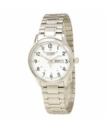 Citizen Men's BF0610-91A Easy Reader White Dial Steel Bracelet Watch - $98.01