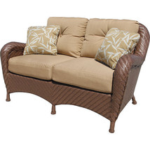 Pottery Barn Outdoor Hand Woven Grand Islands Estates Love Seat w/Pillow... - $1,579.05